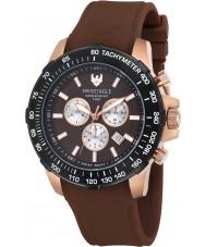 Swiss Eagle SE-9065-0B Mens Herzog bruin chronograaf