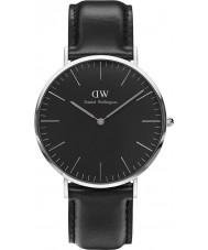 Daniel Wellington DW00100133 Klassiek zwart Sheffield 40mm horloge