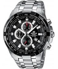 Casio EF-539D-1AVEF Mens bouwwerk zwart zilver chronograafhorloge