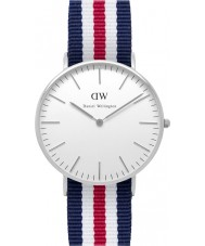 Daniel Wellington DW00100051 Dames klassieke canterbury 36mm zilveren horloge