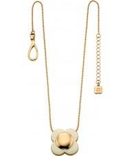 Orla Kiely N4022 Ladies daisy chain 18ct goud crème bloem hanger ketting