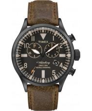 Timex TW2P64800 Mens waterbury bruin lederen chronograaf