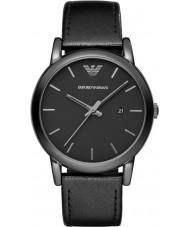 Emporio Armani AR1732 Mens klassieke zwarte lederen band horloge