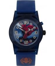 Disney SPD3425 Jongens vergapen ultieme spiderman knipperen horloge met blauwe siliconen band