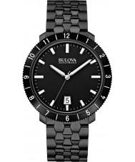Bulova 98B218 Mens ba ii zwarte stalen armband horloge