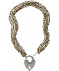 Fossil JA4726998 Ladies pvd goud vergulde ketting