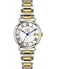 Rotary LB90141-06 Ladies les originales carviano two tone stalen horloge