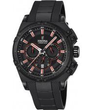 Festina F16971-4 Mens chrono fiets zwart rubber chronograafhorloge