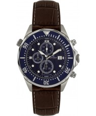 Rotary AGS00070-C-05 Mens AquaSpeed blauw bruin chronograaf