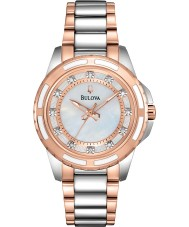 Bulova 98P134 Ladies diamant two tone stalen armband horloge
