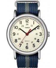 Timex T2N654 Mens blauw grijs weekender glippen horloge