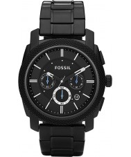 Fossil FS4552 Mens machine zwarte chronograaf horloge