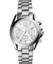 Michael Kors MK6174 Ladies mini bradshaw zilveren chronograafhorloge