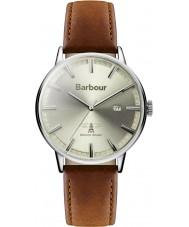 Barbour BB043CMBR Mens Whitburn bruine lederen band horloge