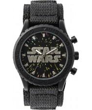 Disney STW1301 Jongens zwarte velcro horloge met sterrenhemel wijzerplaat