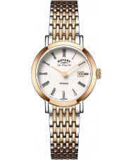 Rotary LB90155-01 Ladies les originales Windsor two tone rose goud verguld horloge