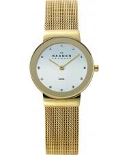 Skagen 358SGGD Ladies klassik wit goud mesh horloge