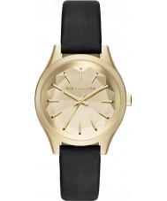 Karl Lagerfeld KL1617 Ladies belleville zwart lederen band horloge