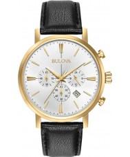 Bulova 97B155 Mens Aerojet gouden zwarte chronograafhorloge