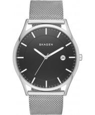 Skagen SKW6284 Mens holst zilveren stalen gaas armband horloge