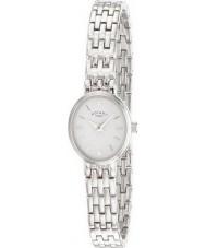 Rotary LB02083-02 Ladies uurwerken wit zilveren horloge