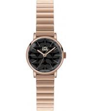 Orla Kiely OK4012 Ladies frankie matzwarte rose goud verguld horloge