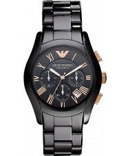 Emporio Armani AR1410 Mens keramische zwart chronograafhorloge