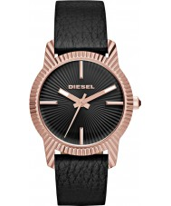Diesel DZ5512 Ladies Bitty zwart lederen band horloge