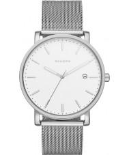 Skagen SKW6281 Mens hagen zilveren stalen gaas armband horloge