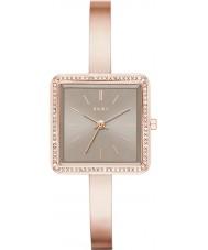 DKNY NY2559 Ladies Stonewall rose gouden stalen armband horloge