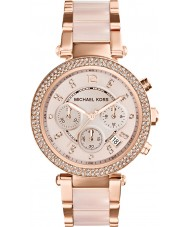 Michael Kors MK5896 Ladies parker rose goud verguld chronograafhorloge