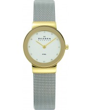 Skagen 358SGSCD Ladies klassik wit zilver mesh watch