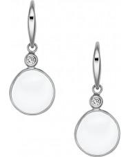 Skagen SKJ0589040 Ladies zee glas zilveren stalen oorbellen