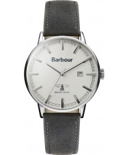 Barbour BB043WHGY Mens Whitburn grijs lederen band horloge