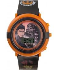 Star Wars SWM3006 Jongens Chewbacca en finn knipperende horloge met zwarte plastic band