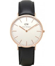Daniel Wellington DW00100007 Mens klassieke 40mm Sheffield nam gouden horloge
