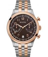 Bulova 98B248 Mens vintage two tone stalen armband chronograaf