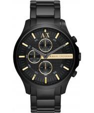Armani Exchange AX2164 Heren alle zwarte chronograaf jurk horloge