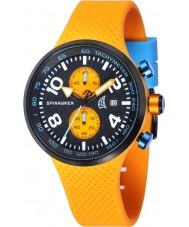 Spinnaker SP-5029-01 Mens dynamische oranje geïntegreerde siliconen band horloge