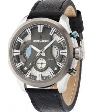 Police 14639JSTU-04 Mens cycloon zwart lederen band horloge