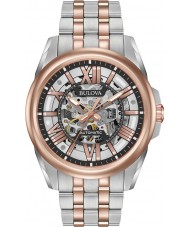 Bulova 98A166 Mens automatische two tone rose armband horloge