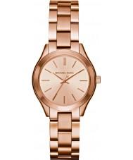 Michael Kors MK3513 Ladies mini slanke landingsbaan rose goud verguld horloge