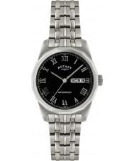 Rotary GB02226-10 Mens uurwerken zwarte zilveren horloge