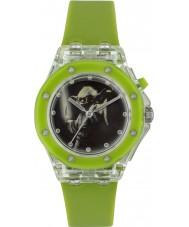 Star Wars YOD3702 Jongens Yoda knipperende horloge met groene siliconen band