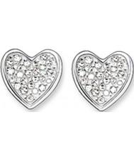Thomas Sabo H1863-051-14 Ladies zirconia effenen hart zilveren oorknopjes