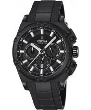 Festina F16971-1 Mens chrono fiets zwart rubber chronograafhorloge