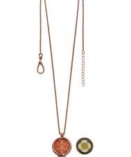 Orla Kiely N4019 Ladies Camille 18ct rose goud omkeerbare hanger ketting