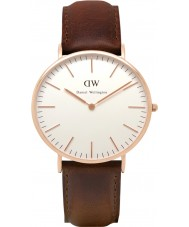 Daniel Wellington DW00100009 Mens klassieke 40mm Bristol rose gouden horloge