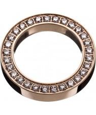 Edblad 79170 Dames vierkante eeuwigheid rose gouden ring - maat S (xl)