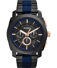 Fossil FS5164 Mens machine two tone chronograaf